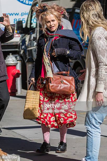Helena Bohnam Carter is seen in TriBeCa on October 14 2016 in New York New York