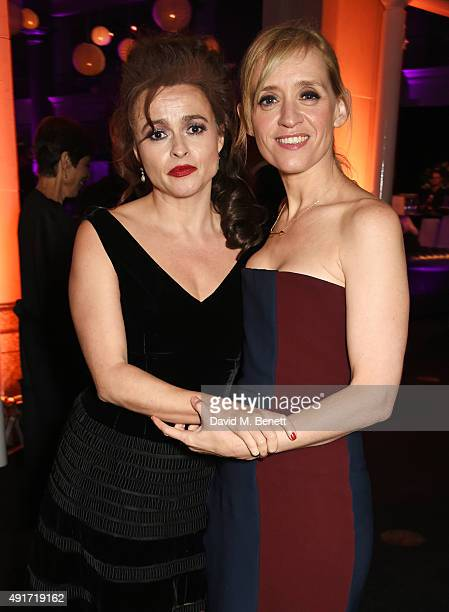 Helena Bonham Carter and AnneMarie Duff attend the after party for Suffragette on the opening night of the BFI London Film Festival at Old...