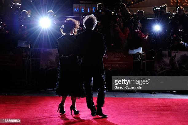 Helena Bonham Carter and filmmaker Tim Burton attends the opening night film of the 56th BFI London Film Festival 'Frankenweenie 3D' at Odeon...