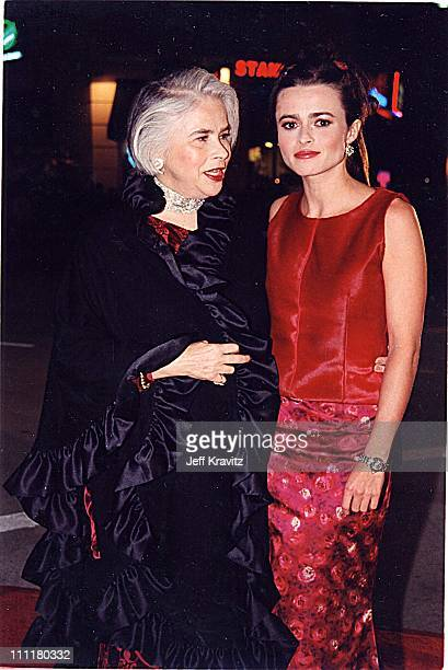 Helena Bonham Carter and her mother during Fight Club Premiere in Los Angeles California United States