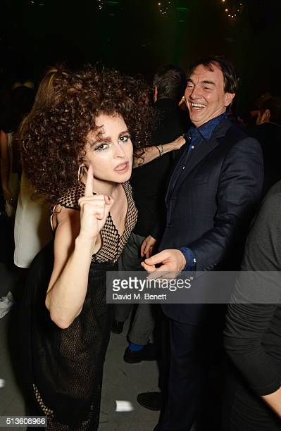 Helena Bonham Carter and Sir Alan Parker attend 'A Night Of Motown' for Save The Children UK at The Roundhouse on March 3 2016 in London England