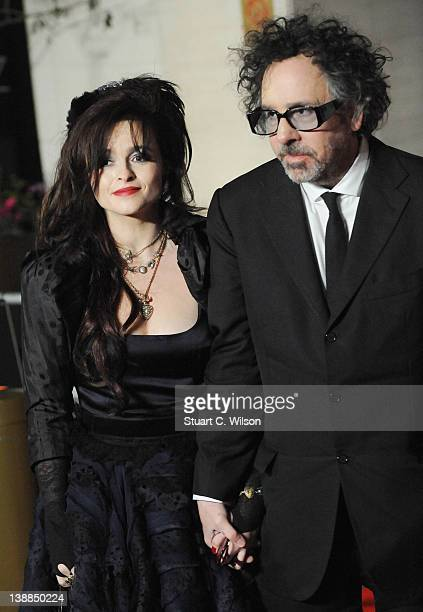 Helena Bonham Carter and Tim Burton arrive at the after party of Orange British Academy Film Awards 2012 at Grosvenor House on February 12 2012 in...
