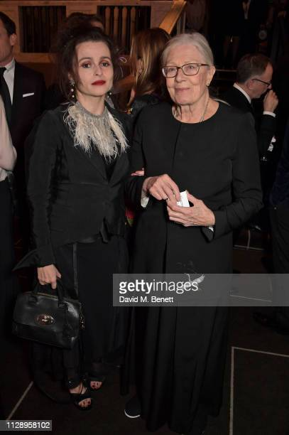 Helena Bonham Carter and Vanessa Redgrave attend the BFI Chairman's Dinner honouring Olivia Colman with the BFI Fellowship at Rosewood London on...