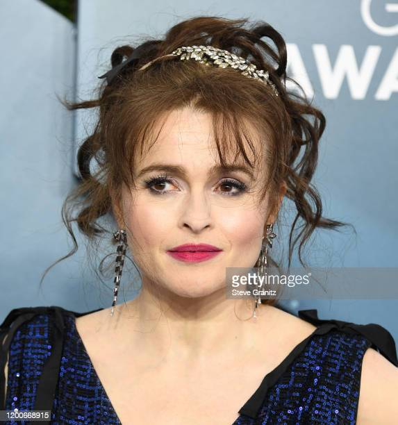 Helena Bonham Carter arrives at the 26th Annual Screen ActorsGuild Awards at The Shrine Auditorium on January 19, 2020 in Los Angeles, California.