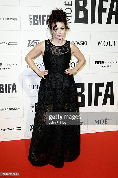 Helena Bonham Carter arrives at The Moet British Independent Film Awards 2015 at Old Billingsgate Market on December 6 2015 in London England