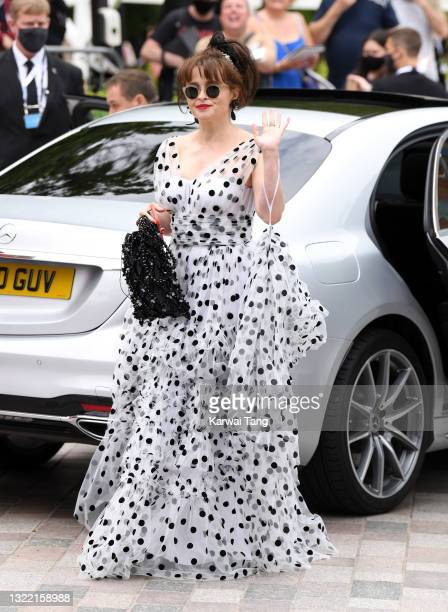 Helena Bonham Carter arrives for the Virgin Media Bafta TV Awards at Television Centre on June 06, 2021 in London, England.