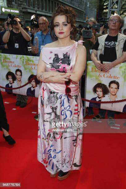 Helena Bonham Carter attends Eleanor Colette premiere at Lichtburg on April 19 2018 in Essen Germany