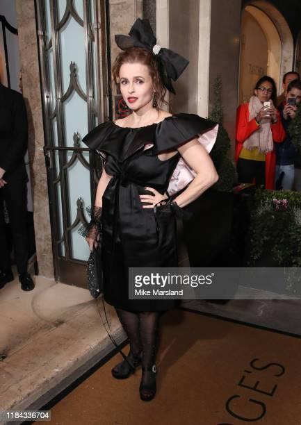Helena Bonham Carter attends Harper's Bazaar Women Of The Year Awards 2019 at Claridge's Hotel on October 29, 2019 in London, England.
