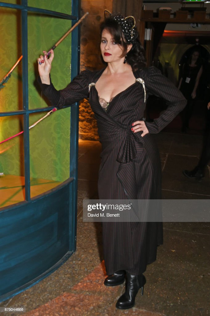 Helena Bonham Carter attends Save The Children's Magical Winter Gala celebrating the 20th anniversary since the publication of the first of J.K. Rowling's Harry Potter stories at The Guildhall on November 16, 2017 in London, England.