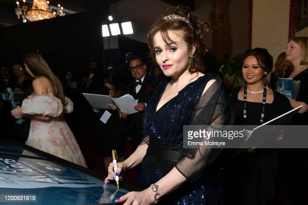 Helena Bonham Carter attends the 26th Annual Screen ActorsGuild Awards at The Shrine Auditorium on January 19, 2020 in Los Angeles, California....