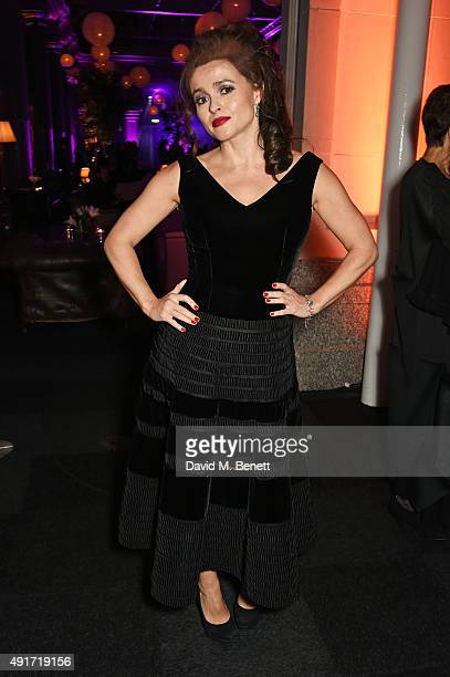 Helena Bonham Carter attends the after party for 'Suffragette' on the opening night of the BFI London Film Festival at Old Billingsgate Market on...