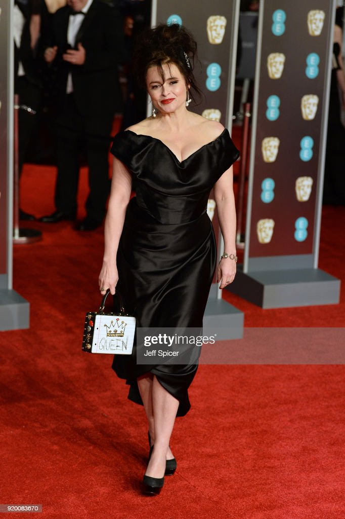 Helena Bonham Carter attends the EE British Academy Film Awards (BAFTA) held at Royal Albert Hall on February 18, 2018 in London, England.