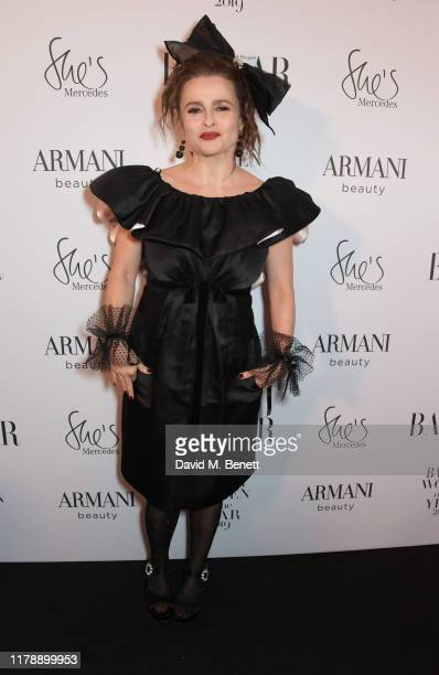 Helena Bonham Carter attends the Harper's Bazaar Women of the Year Awards 2019, in partnership with Armani Beauty, at Claridge's Hotel on October 29,...