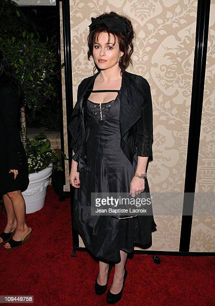Helena Bonham Carter attends the QVC red carpet style party held at the Four Seasons Hotel Los Angeles on February 25, 2011 in Los Angeles,...