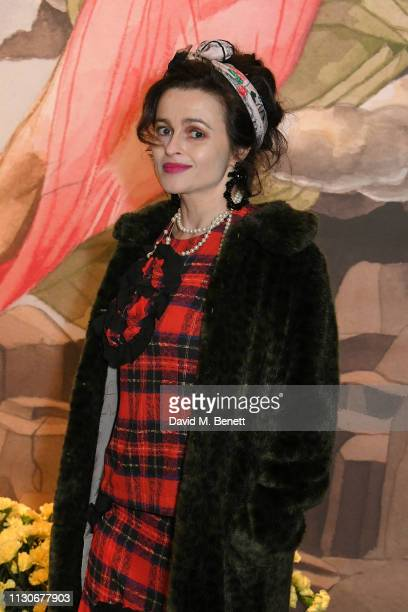 Helena Bonham Carter attends the Shrimps show during London Fashion Week February 2019 at Ambika P3 on February 19 2019 in London England