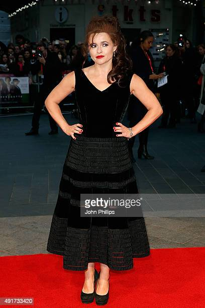 Helena Bonham Carter attends the 'Suffragette' premiere during the opening night gala during the BFI London Film Festival at Leicester Square on...