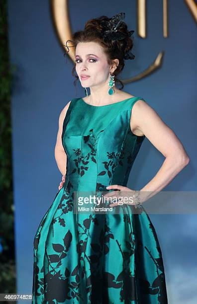 """Helena Bonham Carter attends the UK Premiere of """"Cinderella"""" at Odeon Leicester Square on March 19, 2015 in London, England."""