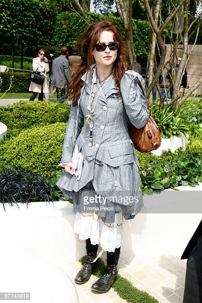 Helena Bonham Carter attends the VIP day of the Chelsea Flower Show at Royal Hospital Chelsea on May 18, 2009 in London, England.