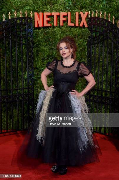 "Helena Bonham Carter attends the World Premiere of Netflix Original Series ""The Crown"" Season 3 at The Curzon Mayfair on November 13, 2019 in London,..."
