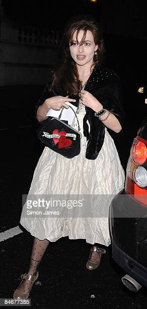 Helena Bonham Carter attends Vogue's Pre-BAFTA dinner hosted by Alexandra Shulman & Nick Jones at Cecconi's on February 6, 2009 in London, England.