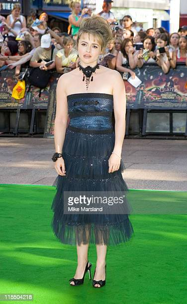 Helena Bonham Carter during Charlie and the Chocolate Factory London Premiere Arrivals at Odeon Leicester Square in London Great Britain