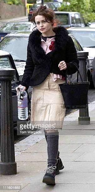 Helena Bonham Carter during Helena Bonham Carter Shopping in Hampstead at Hampstead in London Great Britain