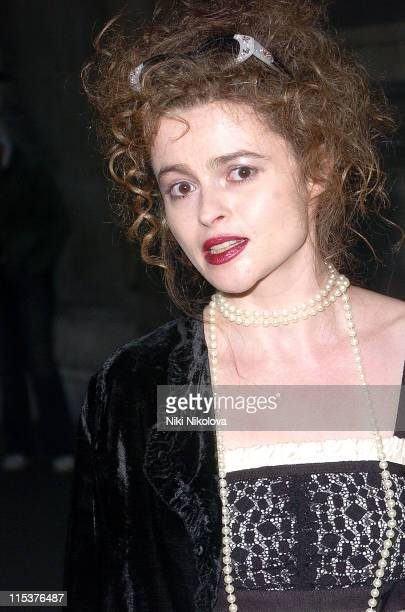 Helena Bonham Carter during Lulu Guinness' 'Put on Your Pearls Girls' Book Launch Party at Victoria Albert Museum in London Great Britain