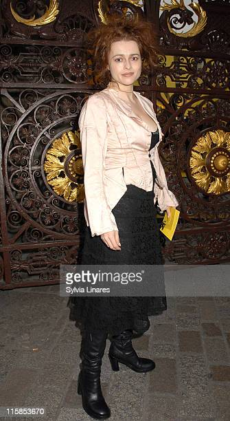 Helena Bonham Carter during Royal Academy Summer Exhibition 2007 - VIP Private View - Departures at Royal Academy in London, Great Britain.