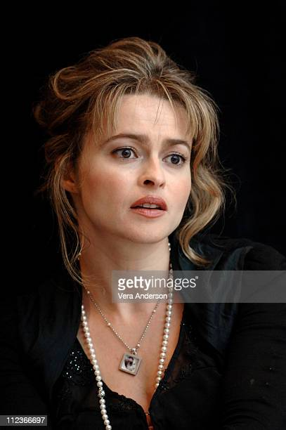 Helena Bonham Carter during Tim Burton's 'Corpse Bride' Press Conference with Johnny Depp Helena Bonham Carter and Tim Burton at Park Hyatt in...