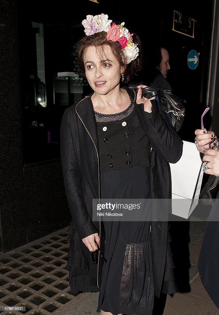 Helena Bonham Carter is seen leaving HIGH flagship store, Mayfair on March 19, 2014 in London, England.