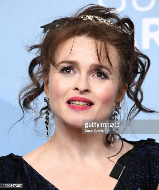 Helena Bonham Carter poses at the 26th Annual Screen ActorsGuild Awards at The Shrine Auditorium on January 19, 2020 in Los Angeles, California.