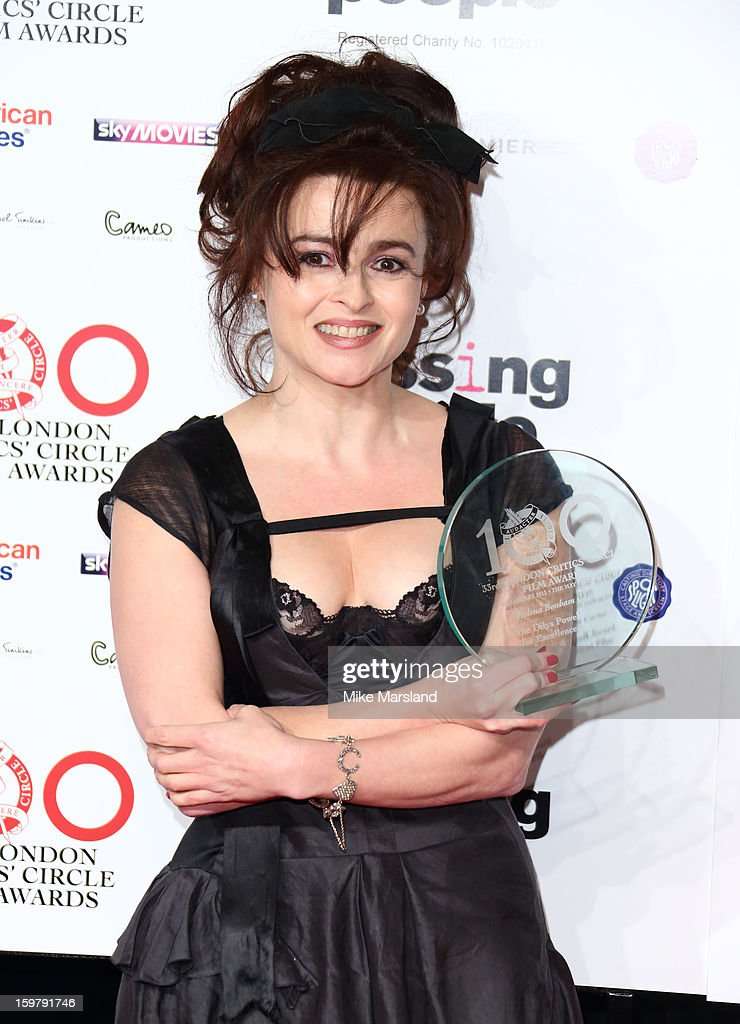 Helena Bonham Carter poses in the press room at the London Film Critics Circle Film Awards at The Mayfair Hotel on January 20, 2013 in London, England.