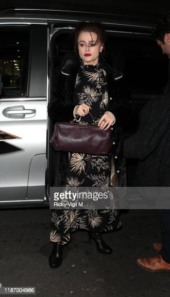 Helena Bonham Carter seen attending My Grandparents' War TV screening / QA at May Fair Hotel on November 11 2019 in London England