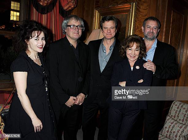 Helena Bonham Carter Simon Curtis Colin Firth Zoe Wanamaker and Hugh Bonneville attend a special screening of 'My Week With Marilyn' hosted by Colin...