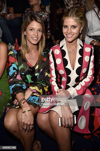 Helena Bordon and Lala Rudge attend the Valentino show as part of the Paris Fashion Week Womenswear Spring/Summer 2015 on September 30 2014 in Paris...