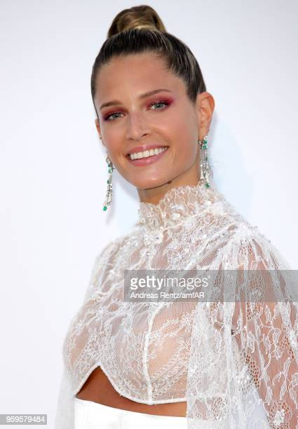 Helena Bordon arrives at the amfAR Gala Cannes 2018 at Hotel du CapEdenRoc on May 17 2018 in Cap d'Antibes France