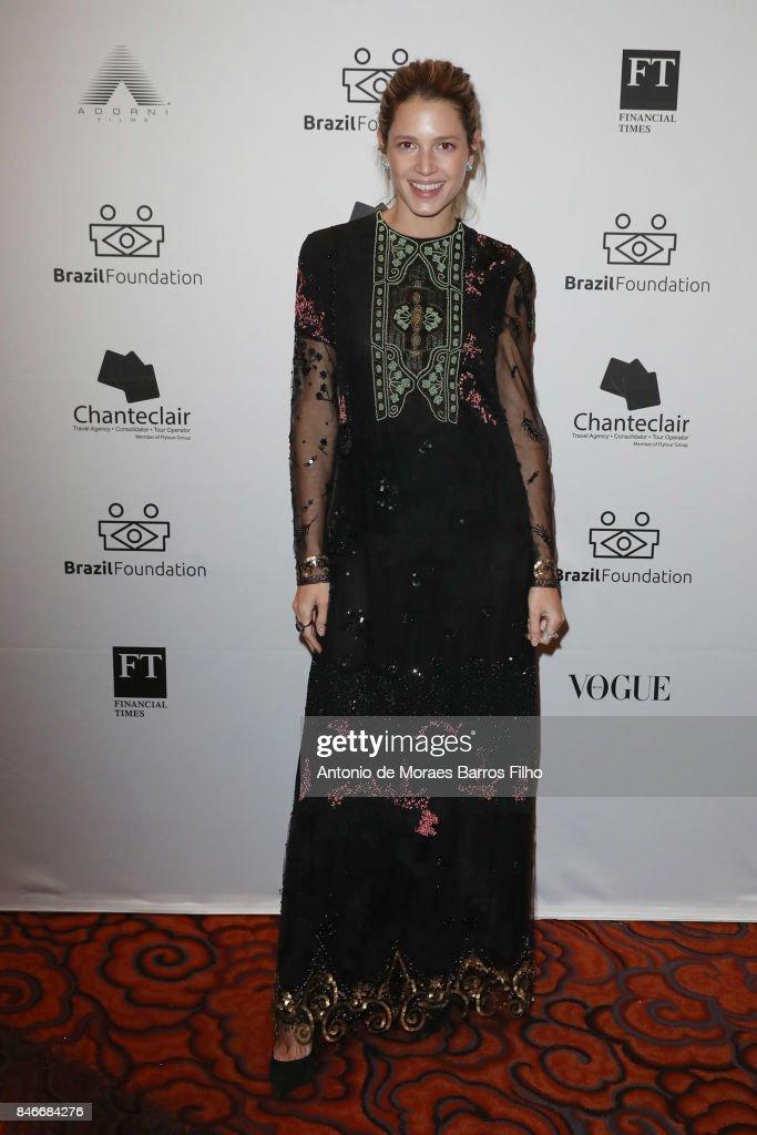 Helena Bordon attends the 2017 Brazil Foundation Gala on September 13, 2017 in New York City.