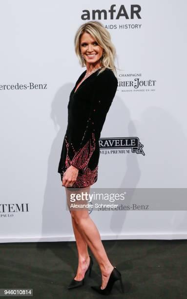 Helena Bordon attends the 2018 amfAR Gala Sao Paulo at the home of Dinho Diniz on April 13 2018 in Sao Paulo Brazil