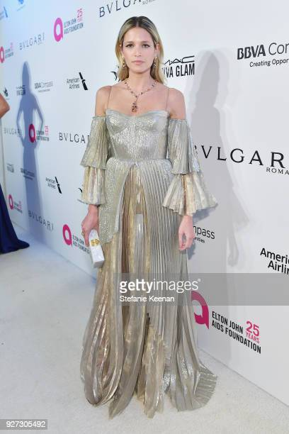 Helena Bordon attends the 26th annual Elton John AIDS Foundation Academy Awards Viewing Party sponsored by Bulgari celebrating EJAF and the 90th...