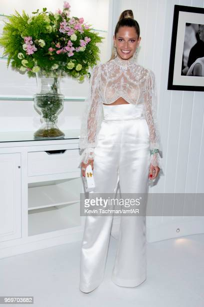 Helena Bordon attends the amfAR Gala Cannes 2018 after party at Hotel du CapEdenRoc on May 17 2018 in Cap d'Antibes France