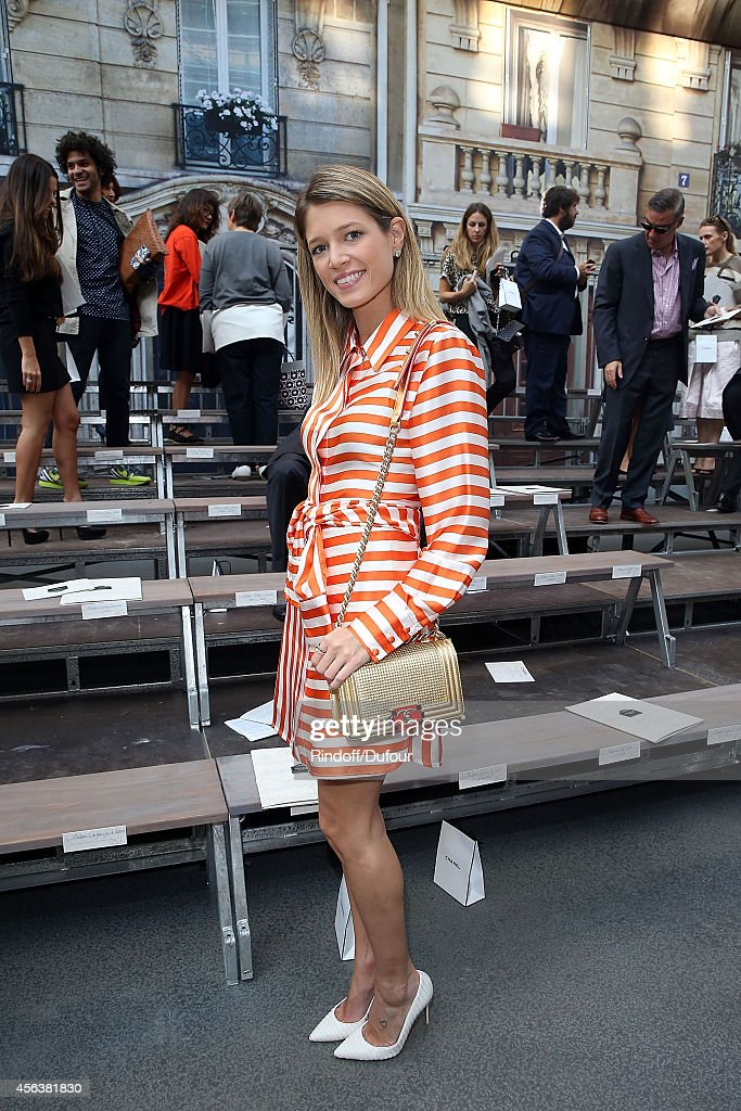Helena Bordon attends the Chanel show as part of the Paris Fashion Week Womenswear Spring/Summer 2015 on September 30, 2014 in Paris, France.