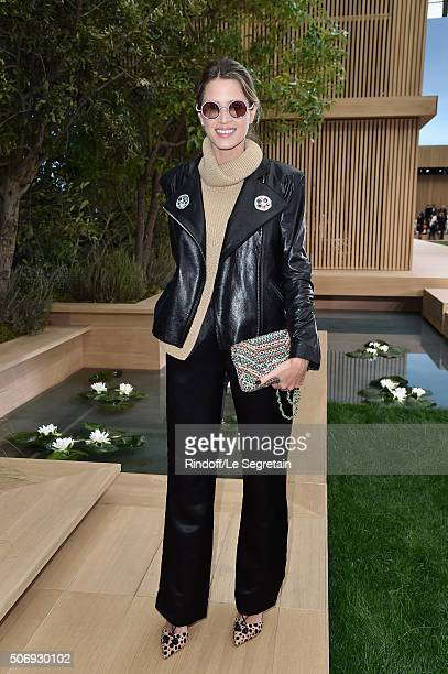 Helena Bordon attends the Chanel Spring Summer 2016 show as part of Paris Fashion Week on January 26 2016 in Paris France