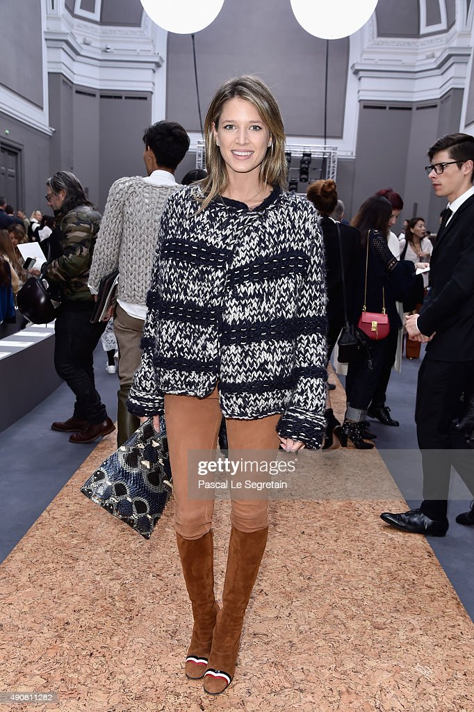 Helena Bordon attends the Chloe show as part of the Paris Fashion Week Womens attends the Chloe show as part of the Paris Fashion Week Womenswear Spring/Summer 2016 on October 1, 2015 in Paris, France.