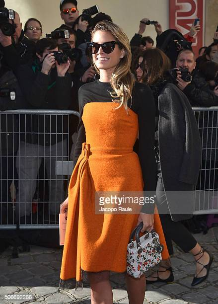 Helena Bordon attends the Christian Dior Haute Couture Spring Summer 2016 show as part of Paris Fashion Week on January 25 2016 in Paris France