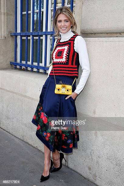 Helena Bordon attends the Dries Von Noten show as part of the Paris Fashion Week Womenswear Fall/Winter 2015/2016 on March 4 2015 in Paris France
