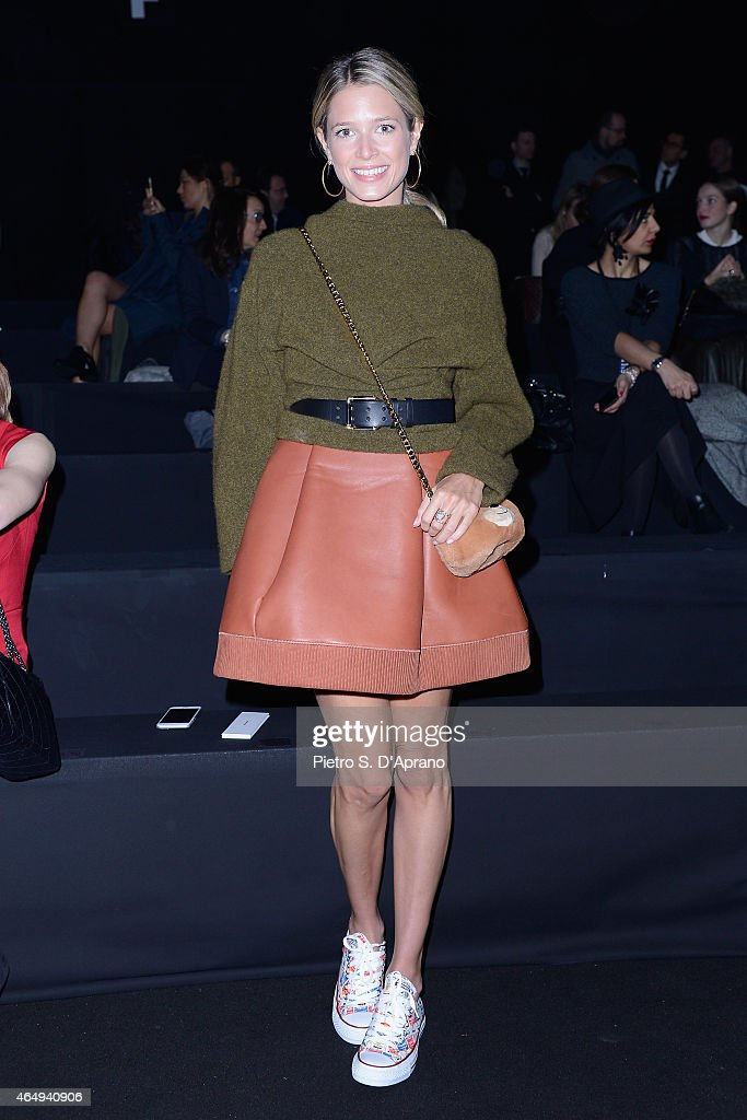 Helena Bordon attends the Dsquared2 show during the Milan Fashion Week Autumn/Winter 2015 on March 2, 2015 in Milan, Italy.
