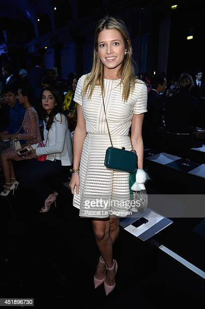 Helena Bordon attends the Elie Saab show as part of Paris Fashion Week Haute Couture Fall/Winter 20142015 at Pavillon Cambon Capucines on July 9 2014...