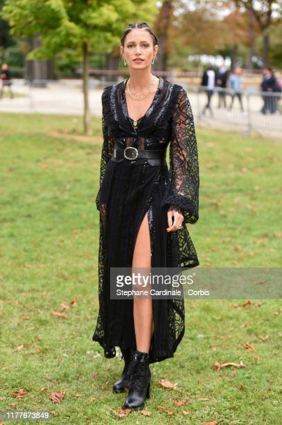 Helena Bordon attends the Elie Saab Womenswear Spring/Summer 2020 show as part of Paris Fashion Week on September 28, 2019 in Paris, France.