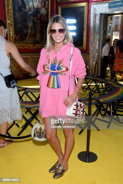 Helena Bordon attends the Gucci Cruise 2018 fashion show at Palazzo Pitti on May 29 2017 in Florence Italy