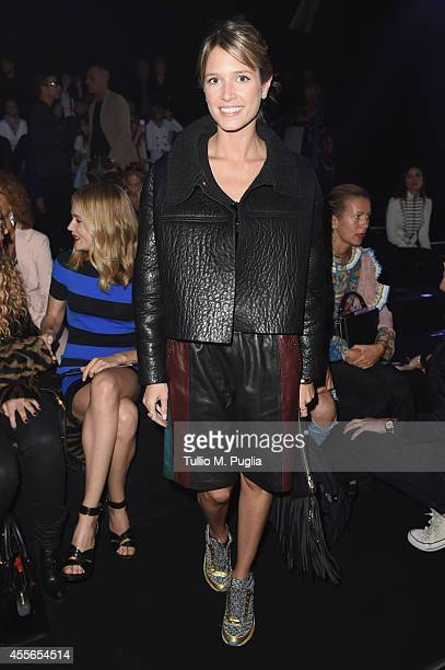 Helena Bordon attends the Just Cavalli show during the Milan Fashion Week Womenswear Spring/Summer 2015 on September 18 2014 in Milan Italy